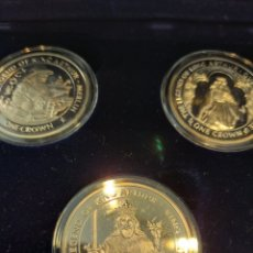 Medallas históricas: COLECCIÓN LEYENDA DEL REY ARTURO 5 PIEZAS DE ONZA EN ESTUCHE. Lote 240417340