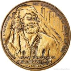 Medaglie storiche: FRANCIA, MEDALLA, CHAMPOLLION, EGYPTE, FIGEAC, 1990, CORBIN, SC, BRONCE. Lote 240766915