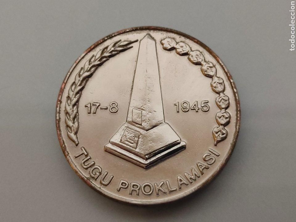 Medallas históricas: ANTIGUA MONEDA/MEDALLA DECLARACIÓN DE INDEPENDENCIA INDONESIA 17-8-1945 SOEKARNO HATTA - Foto 2 - 242225915