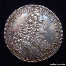Medallas históricas: CAROLUS VI-D-G-ROM-IMP-SEMP-AVG- 1712. MONETA NOVA REIPUBLICAE HAL AE SUEVIC AE . G-F-N.. Lote 237683115