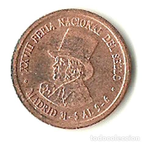 MEDALLA CONMEMORATIVA XXVIII FERIA NACIONAL SELLO (Numismática - Medallería - Histórica)