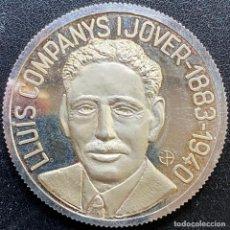 Medallas históricas: MEDALLA DE PLATA DE LLUÍS COMPANYS I JOVER 1883-1940. Lote 244873745