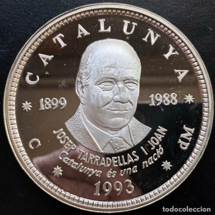 25 ECU PLATA 1993 - JOSEP TARRADELLAS I JOAN (Numismática - Medallería - Histórica)