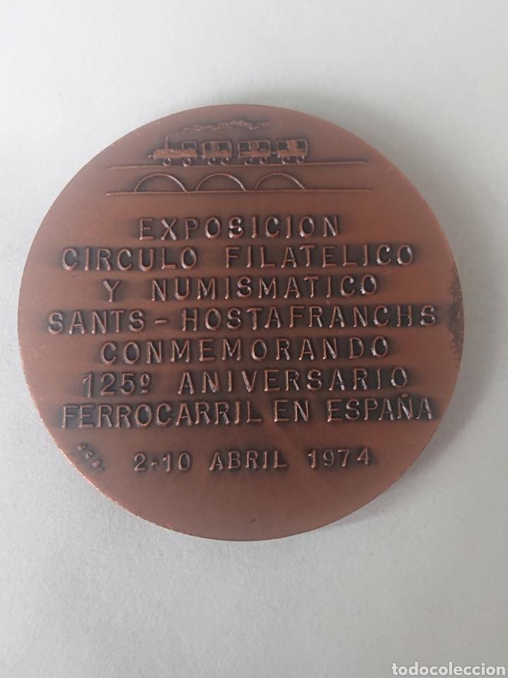 Medallas históricas: MEDALLA MIQUEL BIADA I BUNYOL EXPOSICION CIRCULO FILATELICO Y NUMISMATICO SANTS HOSTAFRANCHS - Foto 2 - 245395585