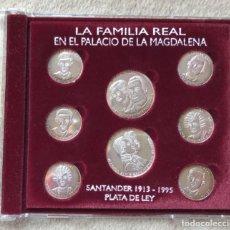 Medallas históricas: LA FAMILIA REAL EN EL PALACIO DE LA MAGDALENA (SANTANDER 1913 - 1995) - PLATA DE LEY. Lote 245428110