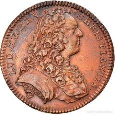 Medallas históricas: FRANCIA, TOKEN, ROYAL, LOUIS XV, ÉTATS DE LILLE, 1737, DUVIVIER, MBC, COBRE. Lote 245603260