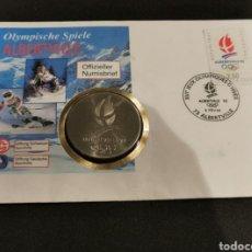 Medallas históricas: MEDALLA JUEGOS OLIMPICOS DE ALBERTVILLE 1992. Lote 246069550