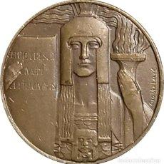 Medallas históricas: BÉLGICA. MEDALLA GEO VERBANCK. ART DECÓ. 1.920. COBRE. Lote 246583050