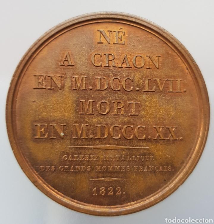 Medallas históricas: FRANCIA MEDALLA CHASSEBOEUF DE VOLNEY BRONCE PATINA EXQUISITA - Foto 2 - 246618370