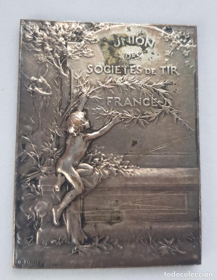 Medallas históricas: MEDALLA FRANCIA UNION SOCIEDADES DE TIRO ALEGORIAS 38 X 50 MM - Foto 2 - 247052245
