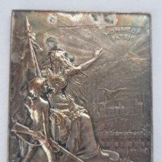 Medallas históricas: MEDALLA FRANCIA UNION SOCIEDADES DE TIRO ALEGORIAS 38 X 50 MM. Lote 247052245