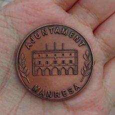 Medallas históricas: MEDALLA DE LA CELEBRACION MIL CIEN AÑOS CIUDAD DE MANRESA - AJUNTAMENT - 889 1989. Lote 247201395