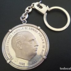 Medallas históricas: ESPAÑA 1975 MEDALLA DE UNA 1 ONZA DE PLATA PURA. CONMEMORATIVA FRANCISCO FRANCO CAUDILLO DE ESPAÑA.. Lote 247961120