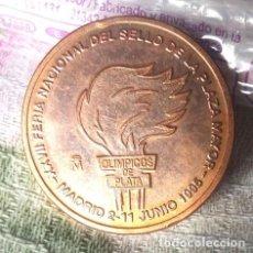 Medallas históricas: MEDALLA CONMEMORATIVA SELLOS OLIMPICOS PLATA FNMT. Lote 244495840