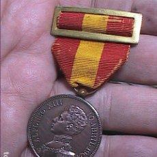 Medalhas históricas: MEDALLA DE LOS SOMATENES DE CATALUÑA.1904. ALFONSO XIII Y VIRGEN DE MONTSERRAT.. Lote 249508185