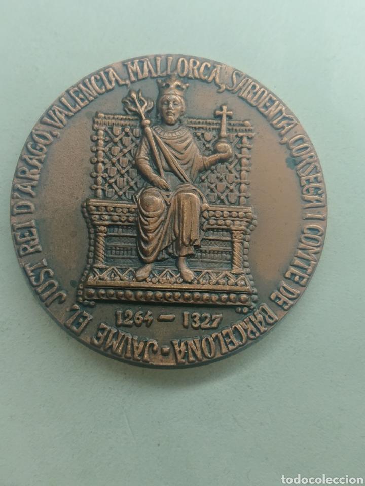 MEDALLA JAUME EL JUST REI ARAGO, VALENCIA, MALLORCA, SARDENYA, CORSEGA I COMTE DE BARCELONA (Numismática - Medallería - Histórica)