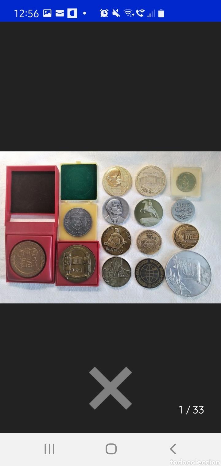 Medallas históricas: Urrs colección de 15 medallas conmemorativas - Foto 2 - 251806210