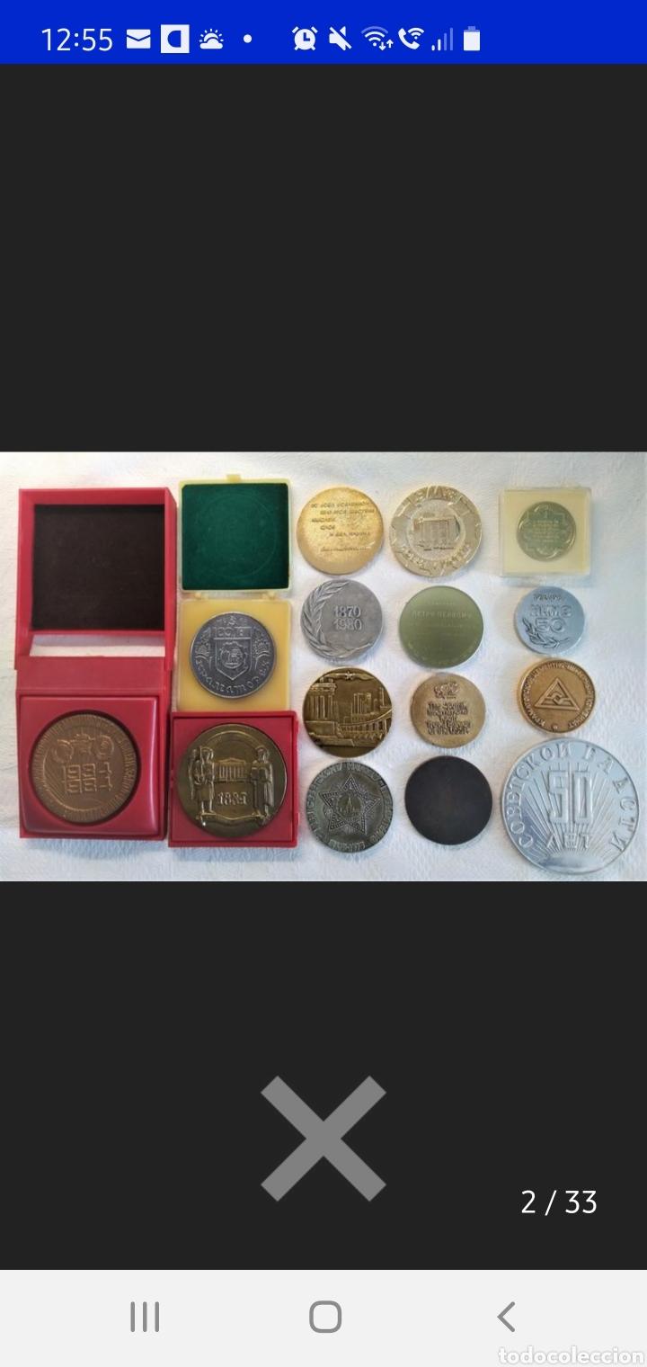 URRS COLECCIÓN DE 15 MEDALLAS CONMEMORATIVAS (Numismática - Medallería - Histórica)