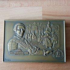 Medallas históricas: MEDALLA DE BRONCE CONMEMORATIVA SELLO CARLOS III. Lote 251807410