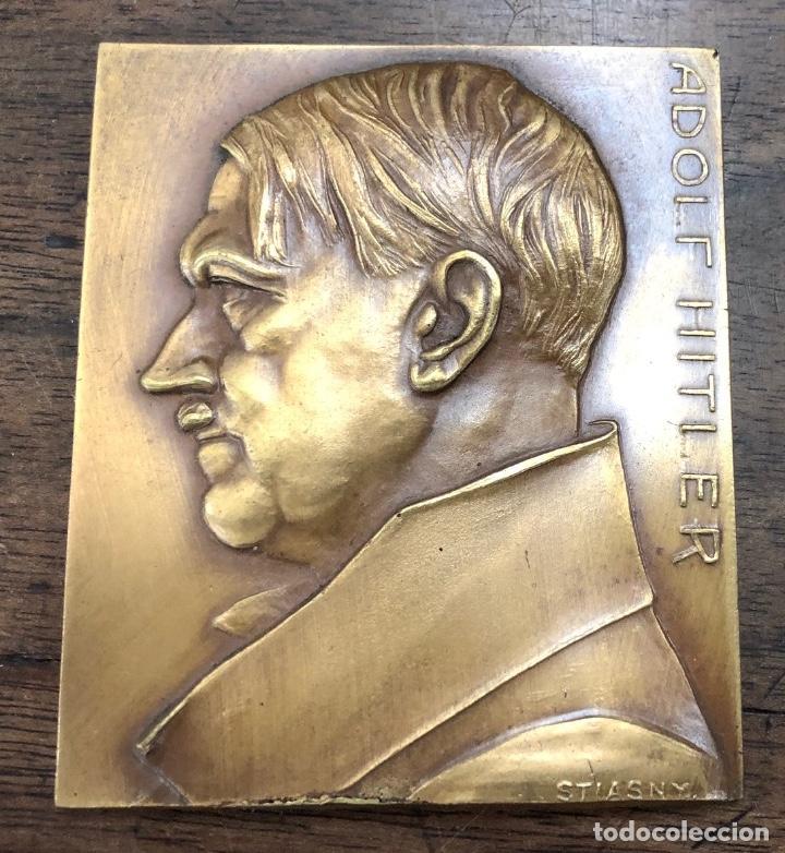 Medallas históricas: FANTASTICA MEDALLA ORIGINAL ADOLF HITLER. REALIZADA POR FRANZ STIASNY. FIRMADA - Foto 2 - 252111170