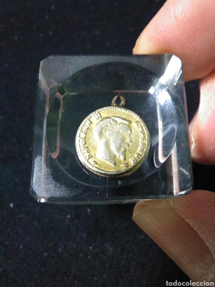 Medallas históricas: Antigua medalla ,napoleon III emperador ,1881 - Foto 2 - 253308140