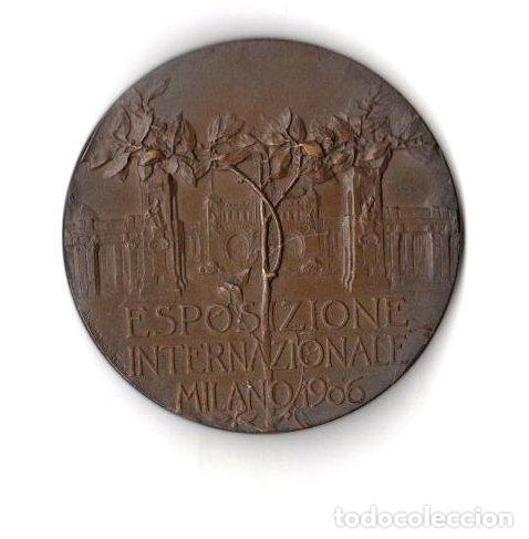 MEDALLA ESPOSIZIONE INTERNAZIONALE MILANO 1906 (Numismática - Medallería - Histórica)