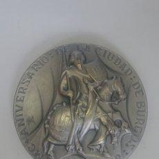 Medallas históricas: MEDALLA MC ANIVERSARIO DE LA CIUDAD DE BURGOS 884-1984 DIEGO+R PORCELOS. Lote 254729805