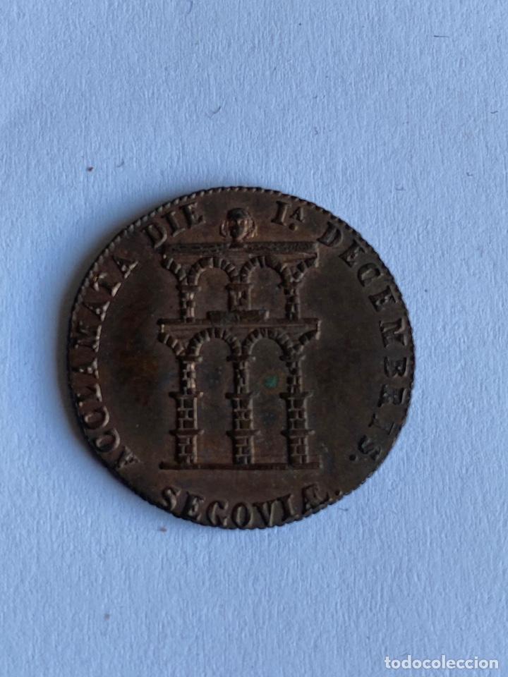 MEDALLA ACLAMACIÓN ISABEL 2 1843 SEGOVIA (Numismática - Medallería - Histórica)