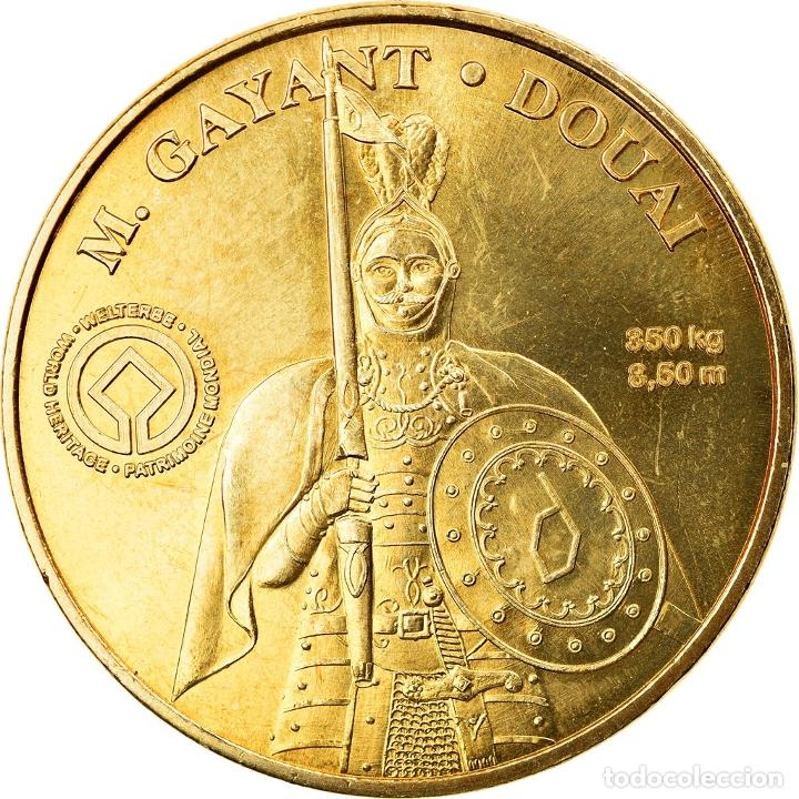 FRANCIA, TOKEN, JETÓN TURÍSTICO, DOUAI - M GAYANT, ARTS & CULTURE, 2010, MDP (Numismática - Medallería - Histórica)