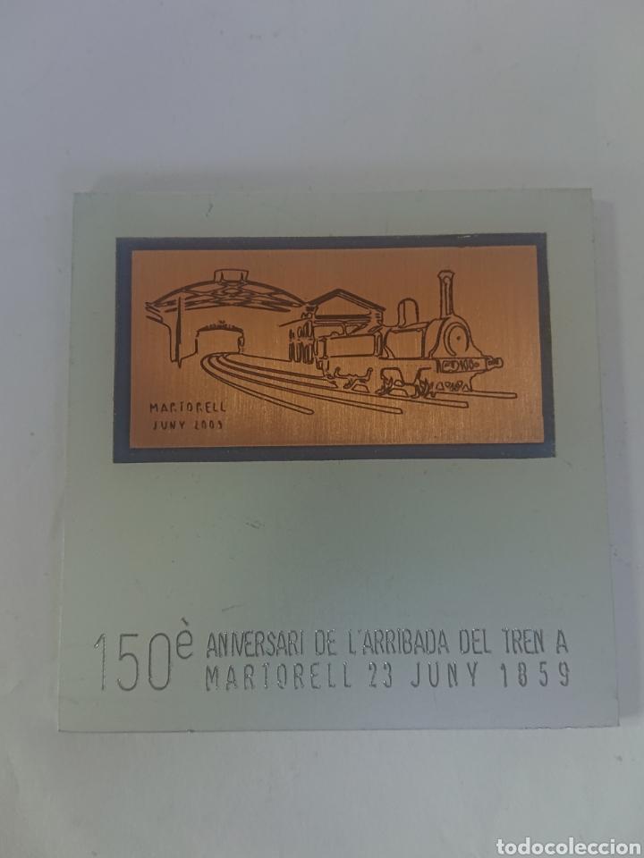 MEDALLA AJUNTAMENT DE MARTORELL 150 ANIVERSARI DE L'ARRIBADA DEL TREN A MARTORELL 23 JUNY 1859-2009 (Numismática - Medallería - Histórica)