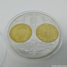 Medallas históricas: MEDALLA O MEDALLÓN CONMEMORATIVO DE LA MONEDA DE 20 MARCOS DE 1914, FRIEDERICH II. Lote 256046370