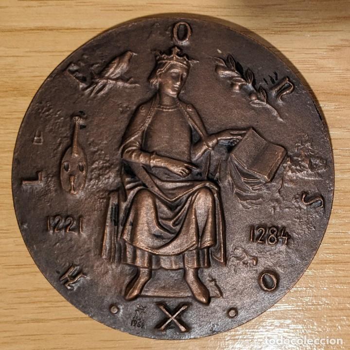 Medallas históricas: ESPAÑA. MEDALLA F.N.M.T. ALFONSO X EL SABIO LAS CANTIGAS - Foto 2 - 257298905