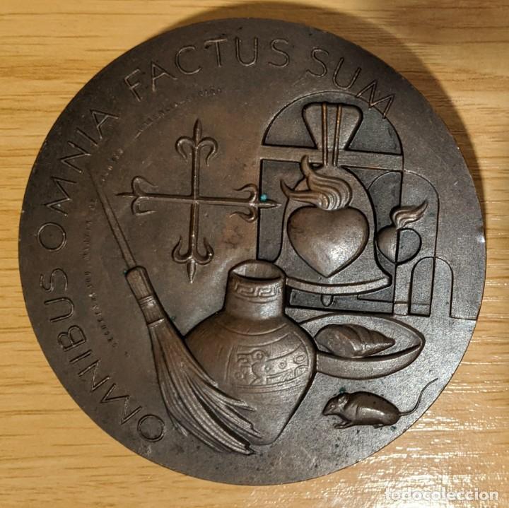MEDALLA BRONCE SAN MARTÍN PORRES DE FERNANDO DE JESUS SECRETARIADO MARTÍN DE PORRES PALENCIA (Numismática - Medallería - Histórica)