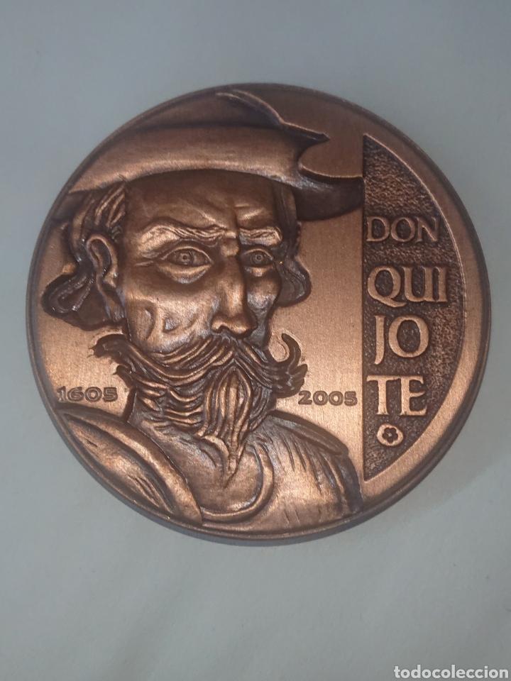 MEDALLA DON QUIJOTE 1605-2005 ACUŃACIONES IBERICAS ARTE Y CULTURA ACUŃADOS (Numismática - Medallería - Histórica)