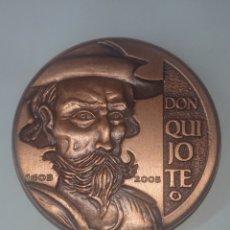 Medallas históricas: MEDALLA DON QUIJOTE 1605-2005 ACUŃACIONES IBERICAS ARTE Y CULTURA ACUŃADOS. Lote 257322550
