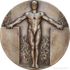 Medaglie storiche: FRANCIA, MEDALLA, ART DÉCO, SPORTS & LEISURE, FRAISSE, MBC+, PLATA. Lote 257654105