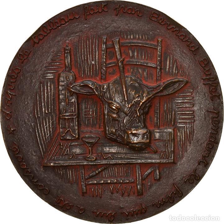 Medallas históricas: [#8579] Francia, medalla, Bernard Buffet, Arts & Culture, 1958, Kischka, EBC, Bronce - Foto 2 - 257660135