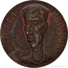 Medallas históricas: [#8579] FRANCIA, MEDALLA, BERNARD BUFFET, ARTS & CULTURE, 1958, KISCHKA, EBC, BRONCE. Lote 257660135