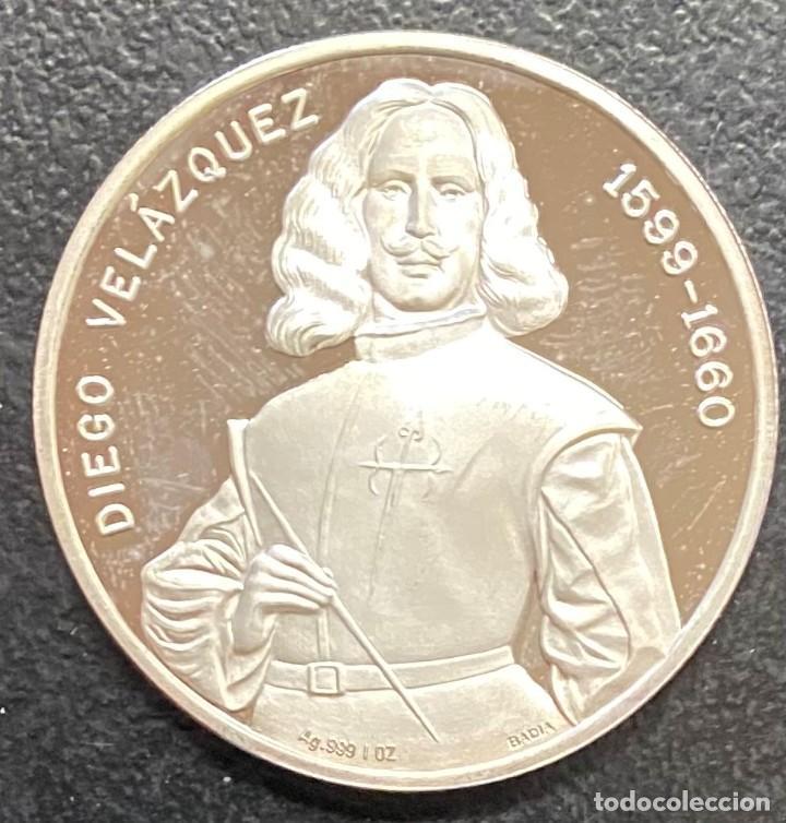 ESPAÑA, MEDALLA DE 1 ONZA DE PLATA DE VELÁZQUEZ (Numismática - Medallería - Histórica)