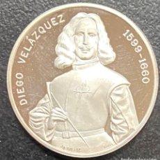Medaglie storiche: ESPAÑA, MEDALLA DE 1 ONZA DE PLATA DE VELÁZQUEZ. Lote 257765945