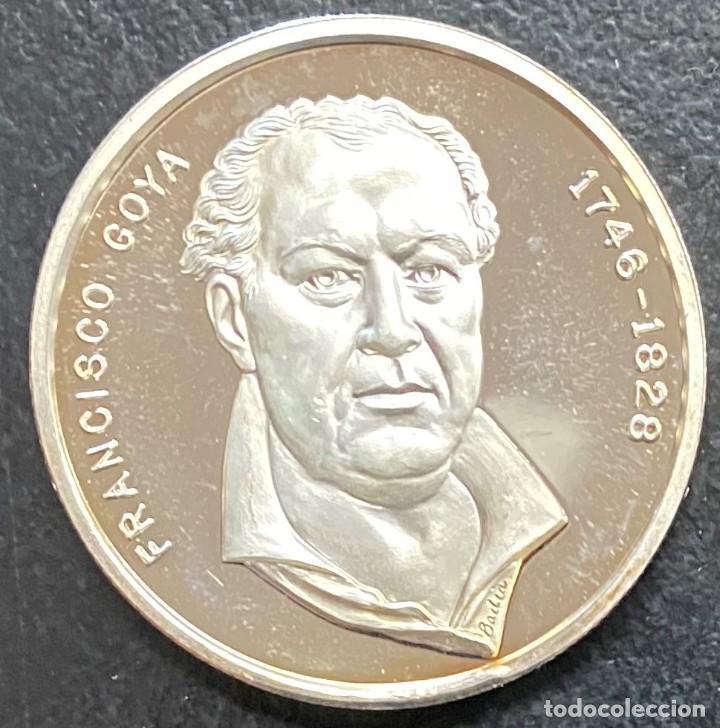 ESPAÑA, MEDALLA DE 1 ONZA DE PLATA DE GOYA (Numismática - Medallería - Histórica)