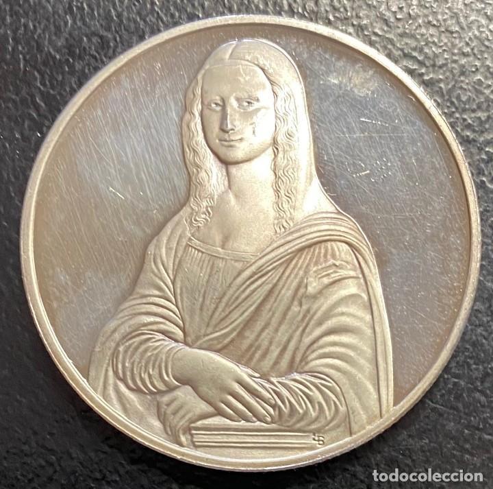 ESPAÑA, MEDALLA DE 1 ONZA DE PLATA DE LEONARDO DA VINCI (Numismática - Medallería - Histórica)