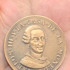 Medallas históricas: MEDALLA BRONCE CARLOS III CASA DE LA MONEDA EXPOSICION CONMEMORATIVA BICENTENARIO FNMT 1988 3X40MM. Lote 257807730