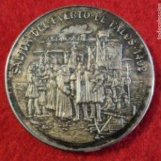 Medaglie storiche: MEDALLA SALIDA DEL PUERTO DE PALOS 1492 EN ALTA MAR RUMBO OESTE PLATA 0,999 ORIGINAL C4. Lote 258941840