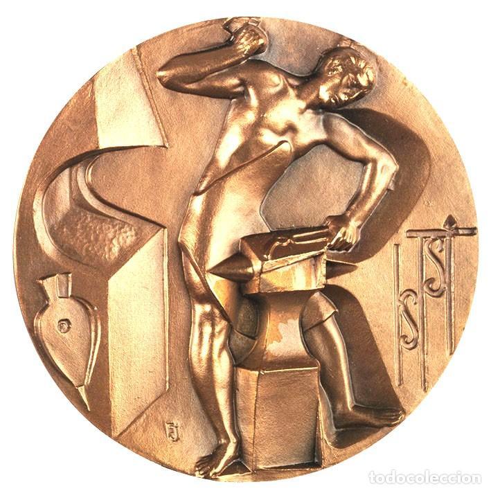 MEDALLA BRONCE DE LA FORJA F.N.M.T. (Numismática - Medallería - Histórica)