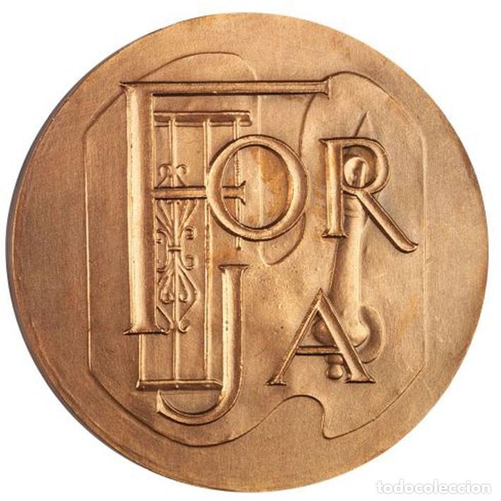 Medallas históricas: Medalla bronce de la Forja F.N.M.T. - Foto 2 - 259717510