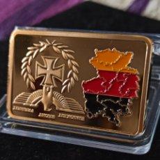 Medallas históricas: LINGOTE DE ORO III REICH, REUNIFICACIÓN DE ALEMANIA, CRUZ DE HIERRO, 28'35GR/UNA ONZA APROX.. Lote 260514705