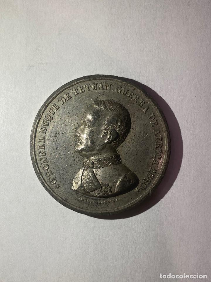 MEDALLA CONMEMORATIVA ODONELL DUQUE DE TETUAN. GUERRA DE AFRICA 1860. (Numismática - Medallería - Histórica)