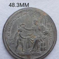 Medaglie storiche: RARA MEDALLA AL MERITO PATRIOTICO SOCIEDAD ECONOMICA VALENCIA 1831 ZINC. Lote 263266840