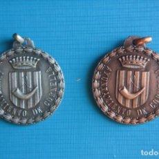 Medallas históricas: DOS MEDALLAS I Y II CONCENTRACIÓN INTERNACIONAL MAJORETTES. CORNELLÁ 1975 Y 1977. AYUN.CORNELLÁ.. Lote 263787735